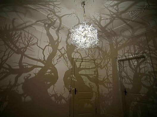 Overhead Tree Light-Awesome Home Interior Designs Ever
