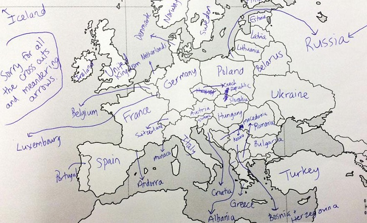 Arrows Galore-Europe According To Americans