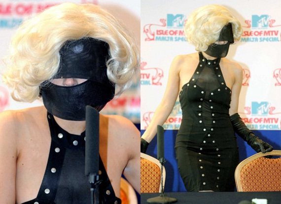 A Good Face Covering-Worst Lady Gaga Outfits