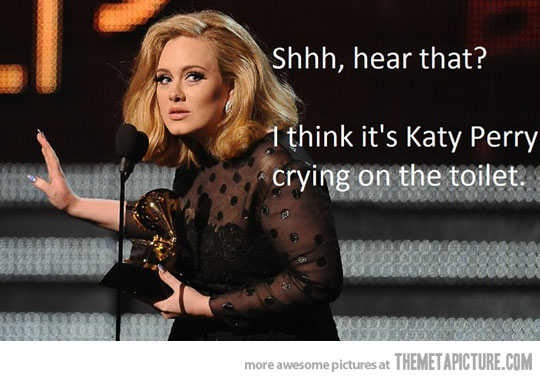 It probably is her crying Adele-23 Hilarious Katy Perry Memes Ever Made