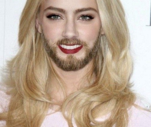 Miss Amber-24 Hilarious Female Celebrities With Beard Photos