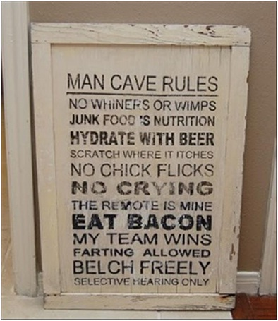 Signature Man Cave Sign-Must Have Man Cave Accessories