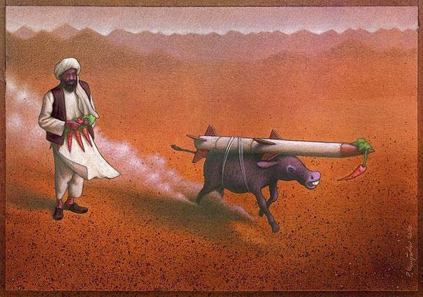 Easily led-Thought-Provoking Satirical Illustrations By Pawel Kuczynski