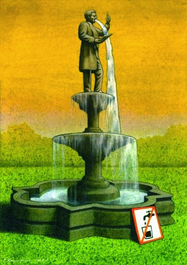 Do not drink the water-Thought-Provoking Satirical Illustrations By Pawel Kuczynski