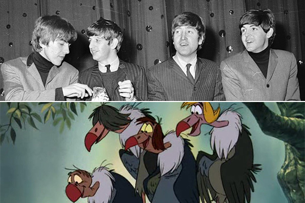 Jungle Book's Vultures Were Supposed to be Voiced by the Beatles-15 Disney Movie Secrets You Don't Know