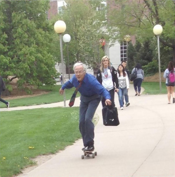 This Old Teacher Who Takes His Skateboard Passion to School-15 Awesome Teachers Everyone Would Like To Have