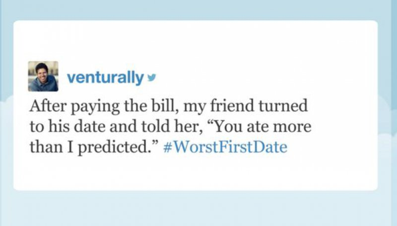 That Was the Last Time the Girl Hung Out with the Dude -15 People Confess Their Worst First Date On Twitter