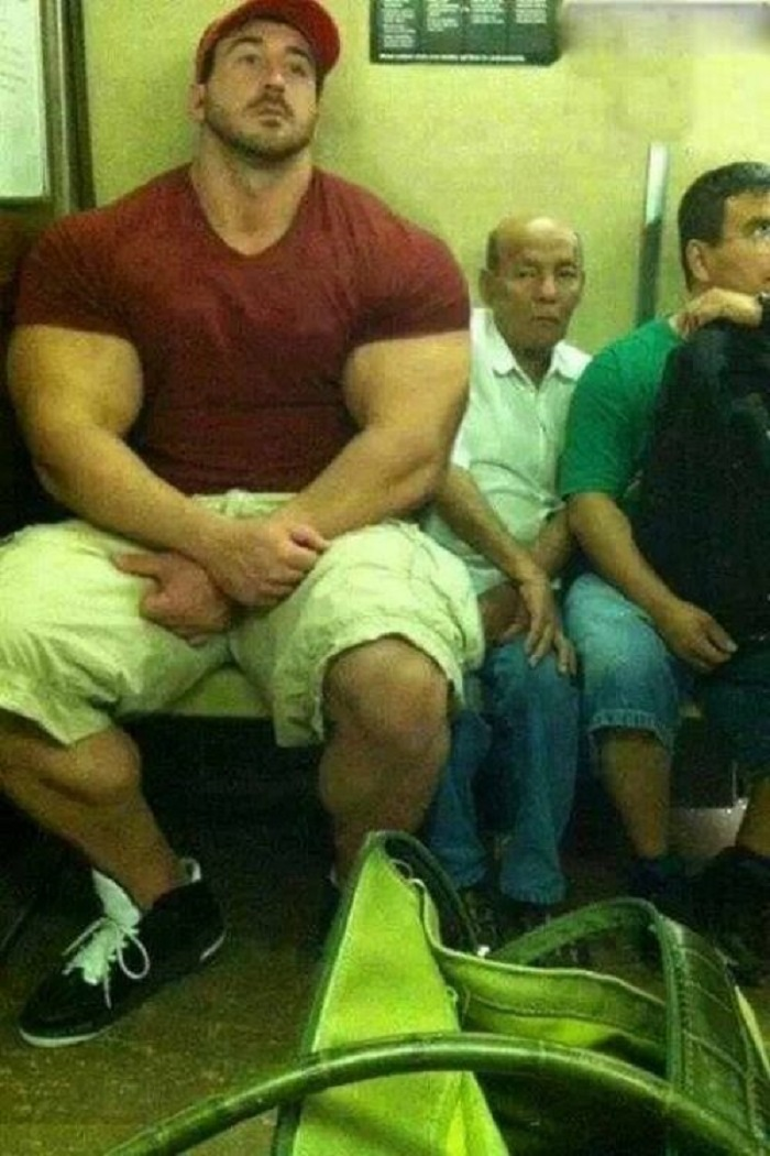 Excuse Me Sir, Can You Take Your Steroids Off My Face-15 Most Awkward Public Transport Pictures