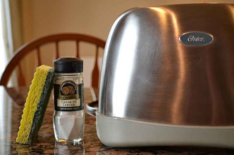 Clean Gunk Off Your Toaster with Cream of Tartar-15 Home Cleaning Hacks That Make Cleaning Easy