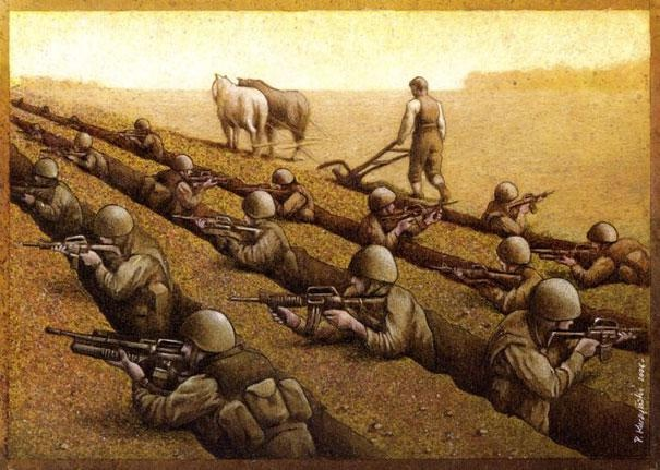 Life and death-Thought-Provoking Satirical Illustrations By Pawel Kuczynski