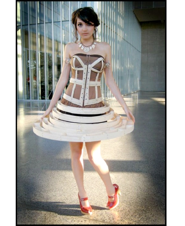Wooden Dress-Weirdest Dresses