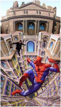 Walk the Spider-Man Web-Amazing 3D Street Art