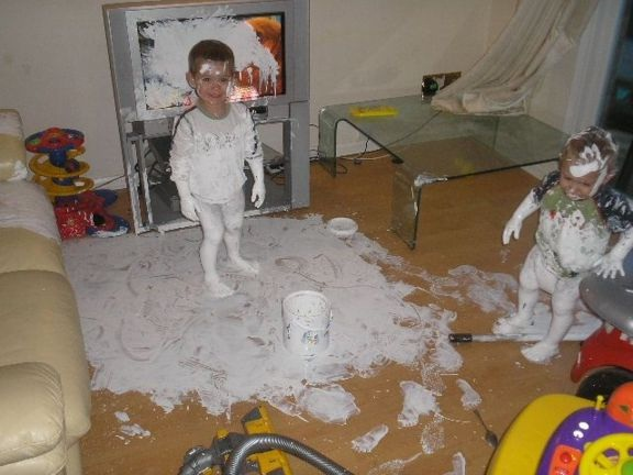 You do not have to worry about keeping paint away from them-Not Being A Parent Can Be Quite Good
