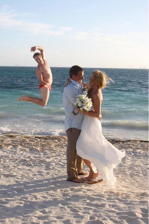 Yippee, You're Married-Best Wedding Photo Bomb