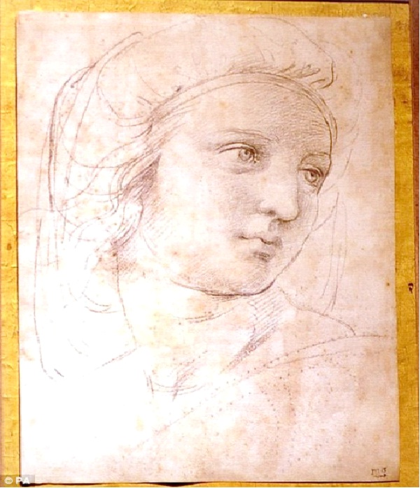 2. Drawing: Raphael's Head of a Muse $47.9 mill-Most Expensive Things In The World