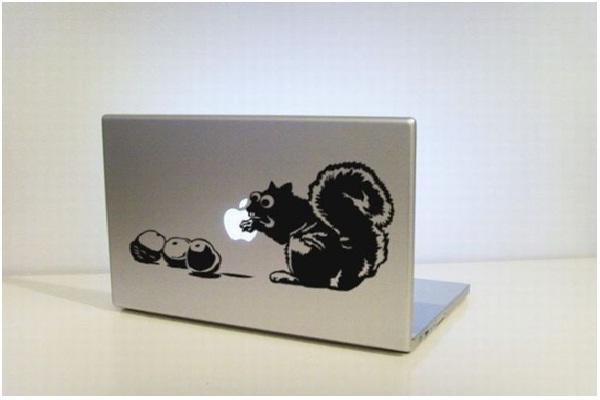 Squirrel Steals Apple-Funny MacBook Stickers