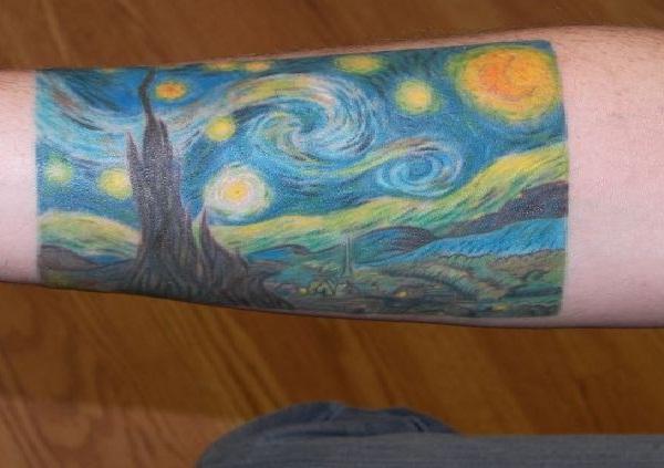 Starry Night-Amazing Painting Tattoos