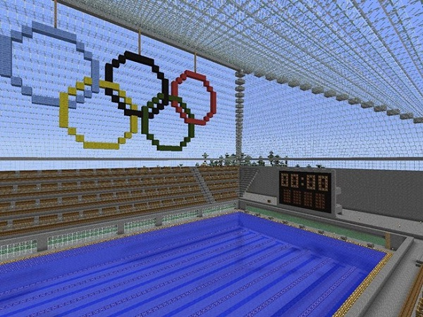 Olympic swimming-Cool Things To Make In Minecraft
