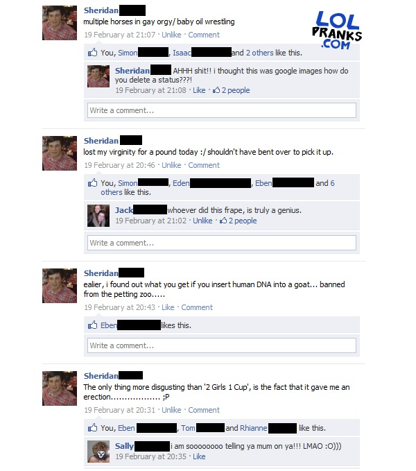 Multiple pranks-Best Facebook Pranks