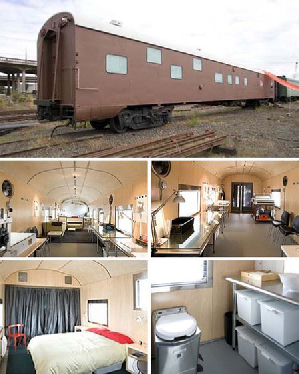 Discarded Old Train-Coolest Homes Made From Vehicles