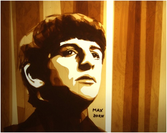 Ringo Start Artwork-Amazing Packing Tape Art