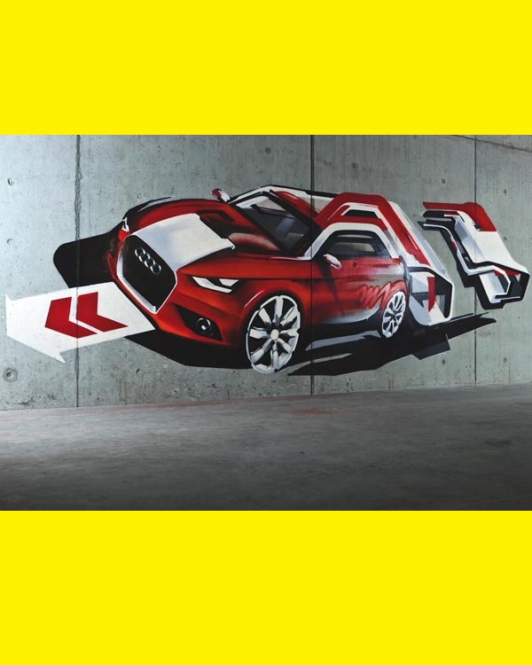 The Audi-Best Wall 3D Graffiti