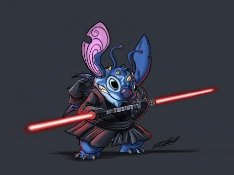 Stitch-Disney Characters In Star Wars Theme