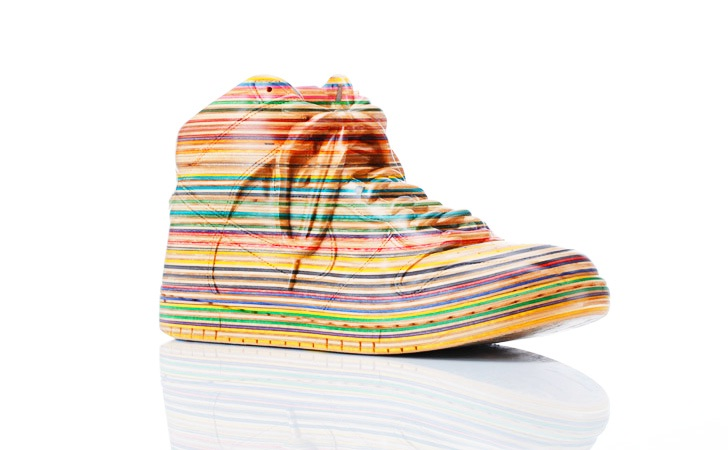 The Boot-Beautiful Sculptures Made Out Of Skateboards By Haroshi