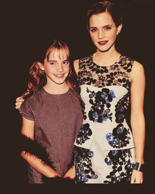 Emma Watson-15 Celebrities Posing With Younger Versions Of Themselves