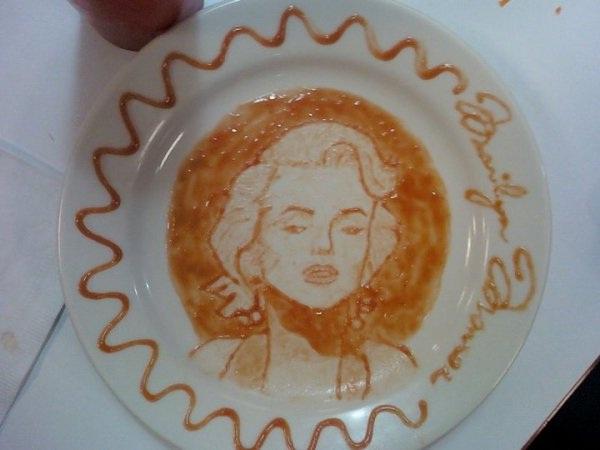 Marilyn Monroe-Amazing Ketchup Art