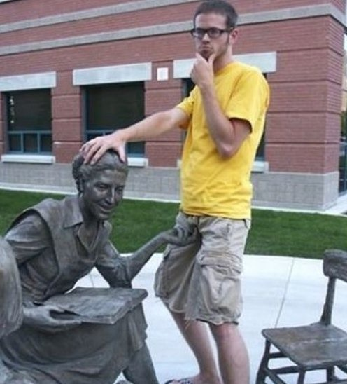 Old Fashioned Discipline?-People Being Nasty With Statues