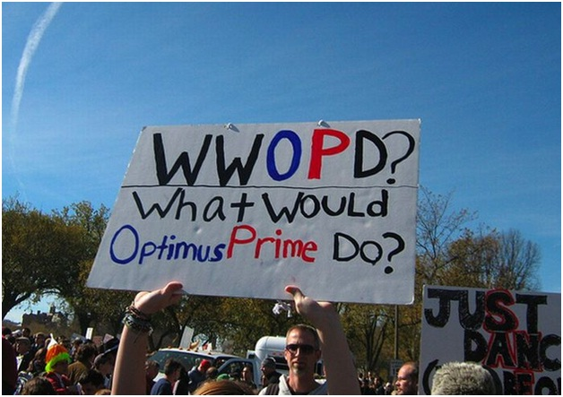 What would Optimus Prime do?-Clever Protest Signs
