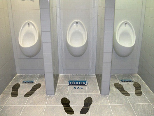 Urinals For the XXL-Most Creative Durex C0ndom Ads