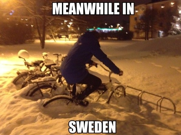 You need some pedal power-Best Meanwhile In Sweden Memes