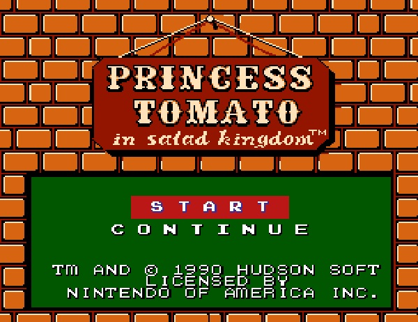 Princess Tomato In Salad Kingdom-Worst Video Game Names Ever