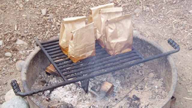 Still get bacon and eggs-Camping Hacks That Make Life Easier