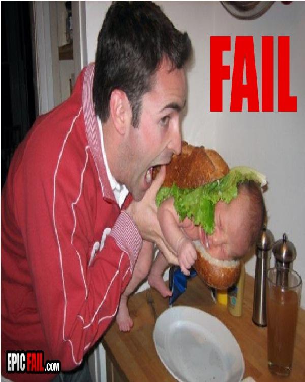 Baby Sandwich (Photo via EpicFail.com)-Worst Parenting Fails