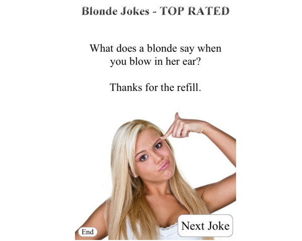 Does it not just whistle?-12 Best Blonde Jokes That Will Make You Cry Laughing