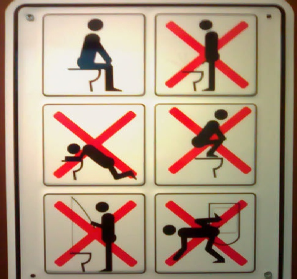 Guidelines-Creative And Funny Toilet Signs