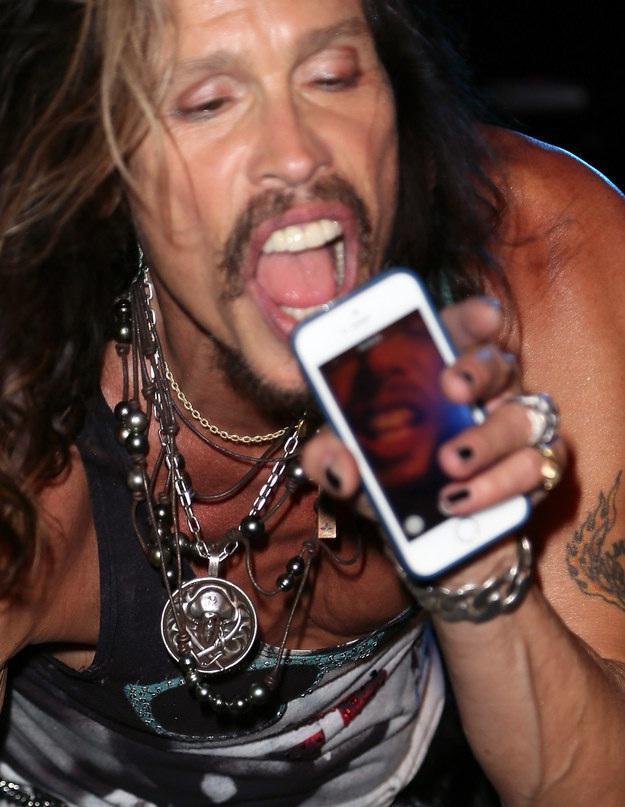 Steve Tyler-Rock Star Selfies