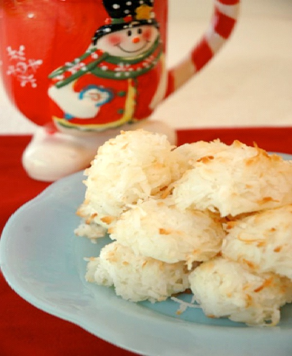 Coconut Cookies-Christmas Recipes
