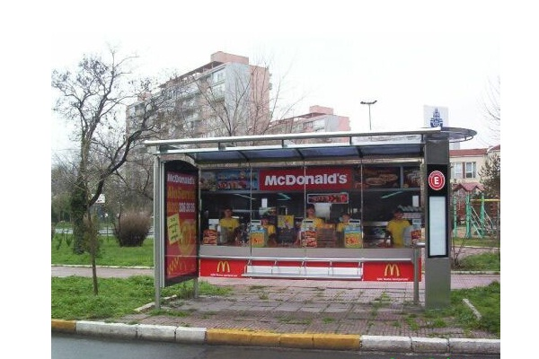 Burger on a bus-Cool Bus Stops Around The World