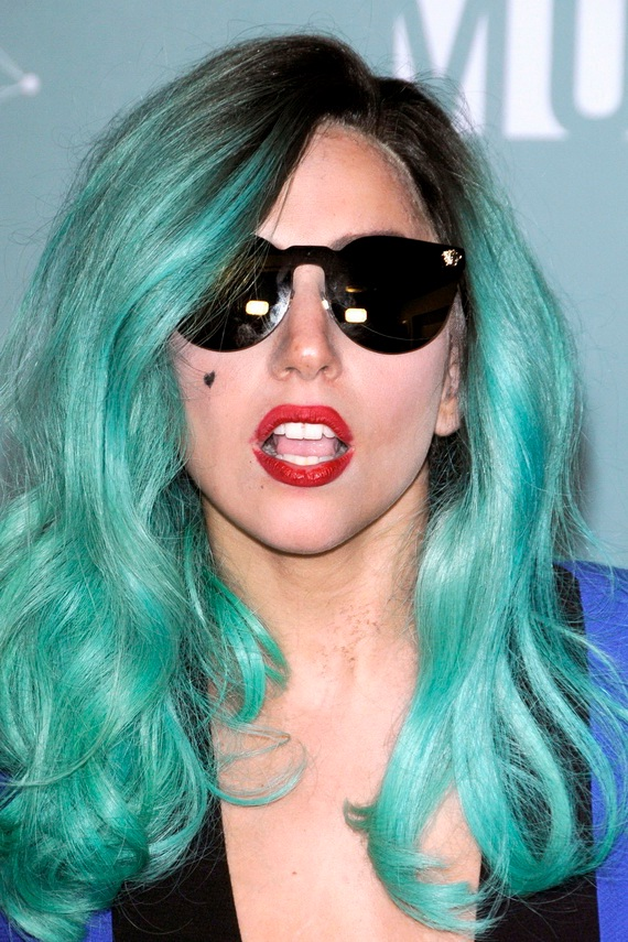 Wow what a color-Lady Gaga Hairstyles