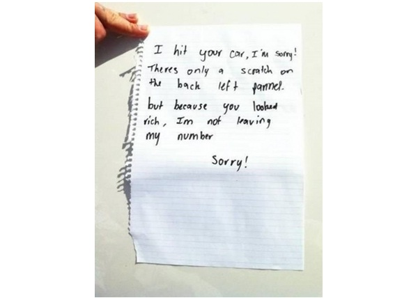 You're Rich Apology-12 Hilarious Apology Notes Ever