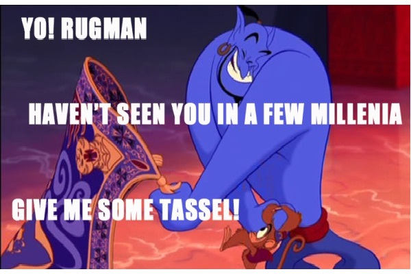 Rugman-12 Funny Quotes Told By Genie From Disney's Aladdin TV Show