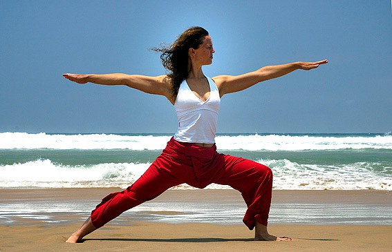 The warrior pose-Simple Yoga Poses To Lose Weight