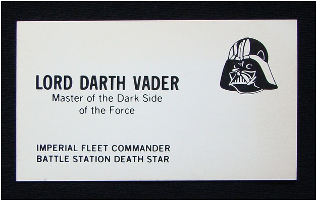 Darth Vader Business Card-Funniest Business Cards