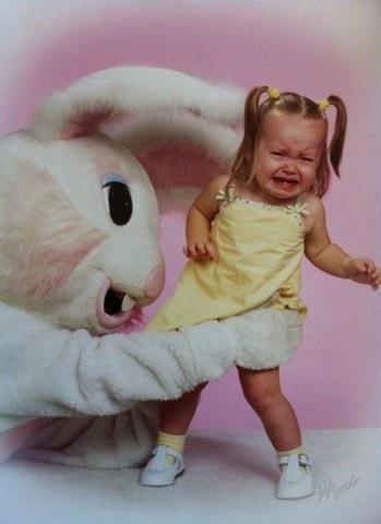 Get away!!!!-Not So Cute Easter Bunnies