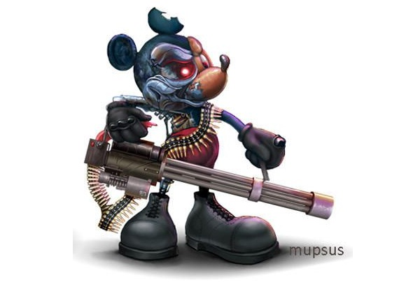 Mickey Mouse-Bad Versions Of Popular Cartoon Characters