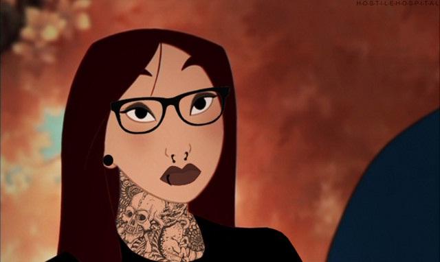 Mulan-Disney Characters In Punk Look